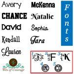 Available Vinyl Fonts