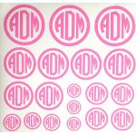 Bubble Gum Circle Monogram