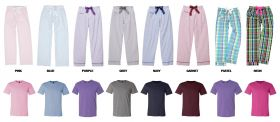 Cotton Pajama Pants with Top Set